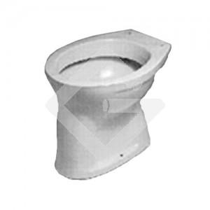 Stand-WC-Flachspüler weiß